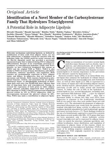 Identification of a Novel Member of the Carboxylesterase Family ...