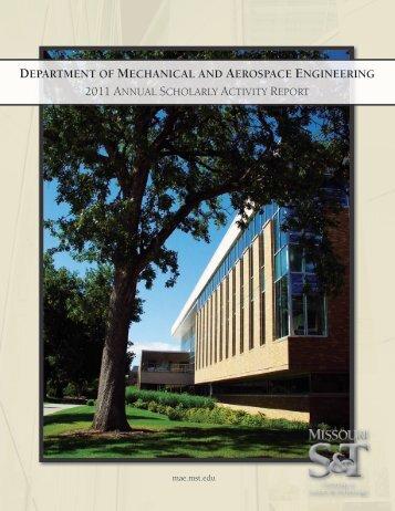 DEPARTMENT MECHANICAL AEROSPACE ENGINEERING
