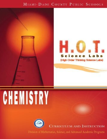 Chemistry HSL Page 1 Curriculum and Instruction - the Science ...