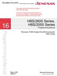 H8S/2600 Series, H8S/2000 Series Programming Manual