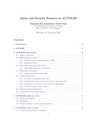Safety and Security Features in AUTOSAR