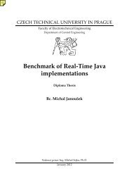 Benchmark of Real-Time Java implementations