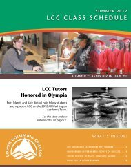 SuMMER 2012 LCC CLASS SChEDuLE - Lower Columbia College ...