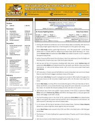 2012-13 University of St Francis Fighting Saints Men's Basketball Game Notes