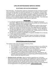 LPN/LVN DISTINGUISHED SERVICE AWARD