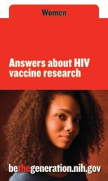 Answers about HIV vaccine research
