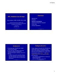 ART Palliative Care & Hope Overview