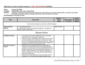 Reports Section