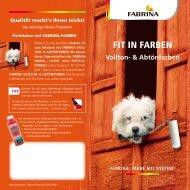 Vollton- & Abtönfarben - FRICK für Wand und Boden