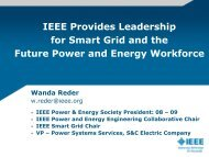 IEEE Provides Leadership for Smart Grid and the Future Power and ...