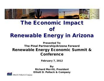 The Economic Impact of Renewable Energy in Arizona