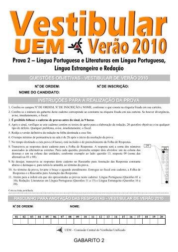 Prova 2 – Língua Portuguesa e Literaturas em Língua Portuguesa ...