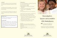 Hausaufgaben-, Sprach- und Lernhilfen (HSL ... - Kultusportal