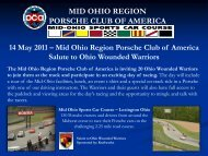 MID OHIO REGION PORSCHE CLUB OF AMERICA