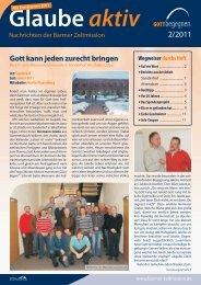 Glaube aktiv 2 2011 - Barmer Zeltmission