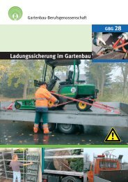 Ladungssicherung im Gartenbau