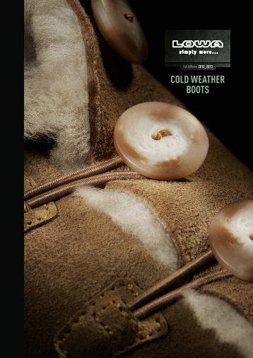 Cold Weather Boots - Lowa