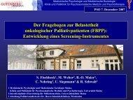Der Fragebogen zur Belastetheit onkologischer ... - PSO