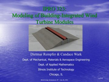 Modeling of Building-Integrated Wind Turbine Modules
