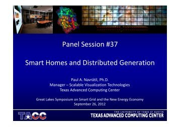 Panel Session #37 Smart Homes and Distributed Generation