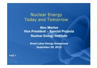 Nuclear Energy Today and Tomorrow