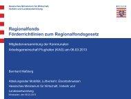 Regionalfonds Förderrichtlinien zum Regionalfondsgesetz