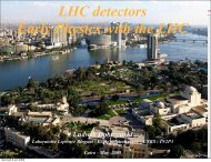 LHC detectors Early Physics with the LHC