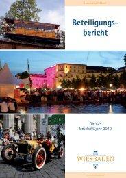 Beteiligungs- bericht - Landeshauptstadt Wiesbaden