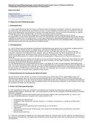 future-x.de: Allgemeine Geschäftsbedingungen