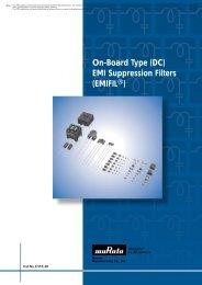 On-Board Type (DC) EMI Suppression Filters (EMIFILr)