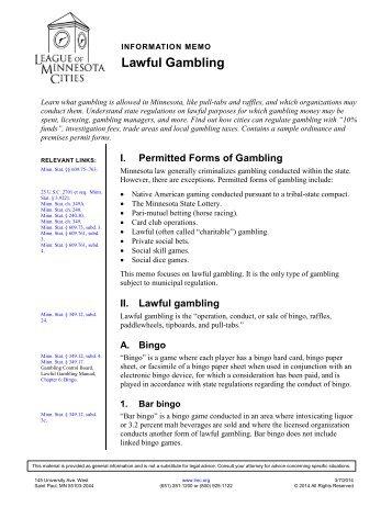 Lawful Gambling