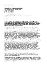 Leipzig – Momente Born to be wild – die 68er und die Musik mit Live ...