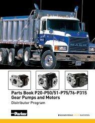 Parts Book P20-P50/51-P75/76-P315 Gear Pumps and Motors