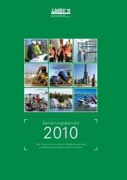 Sanierungsbericht 2010 - LMBV