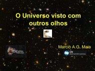 O Universo visto com outros olhos
