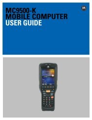 MC9500-K MOBILE COMPUTER USER GUIDE