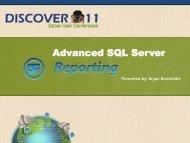Advanced SQL Server