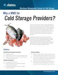 Cold Storage Providers?