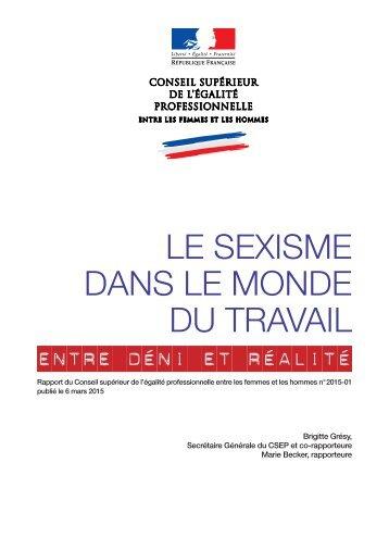 LE SEXISME DANS LE MONDE DU TRAVAIL