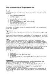 Bericht des Diözesanausschuss zur Diözesanversammlung 2010