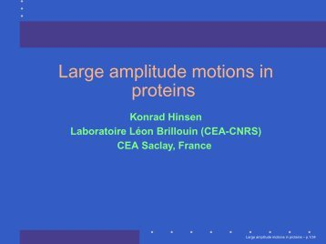 Large amplitude motions in proteins