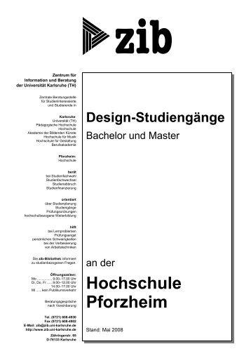 Studienführer Fakultät für Gestaltung - Hochschule Pforzheim