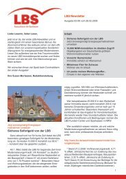 Newsletter Ausgabe Februar 2008 - Lbs