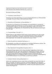 LBS Rheinland-Pfalz Newsletter Dezember 2011 vom 20.12.