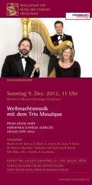 Sonntag 9 Dez 2012 11 Uhr Weihnachtsmusik mit dem Trio Musaïque