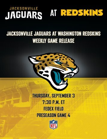 JACKSONVILLE JAGUARS at WASHINGTON REDSKINS