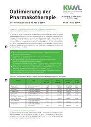 Optimierung der Pharmakotherapie - Kassenärztliche Vereinigung ...