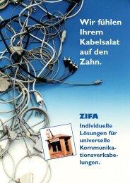 Die universelle Kommunikationsverkabelung - zifa.ag