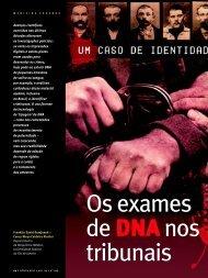 de DNA nos tribunais