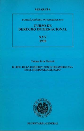 curso de derecho internacional xxv 1998 - MSINFO
